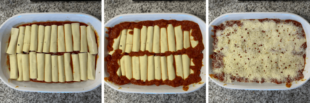 how to roll cannelloni before baking