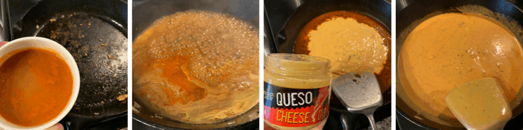how to deglaze a pan and make cheese sauce