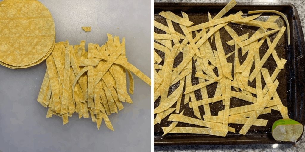 how to make low calorie tortilla strips