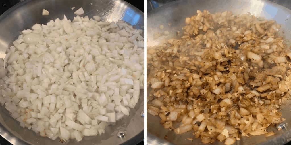 sautéed onions for buffalo chicken pasta sauce