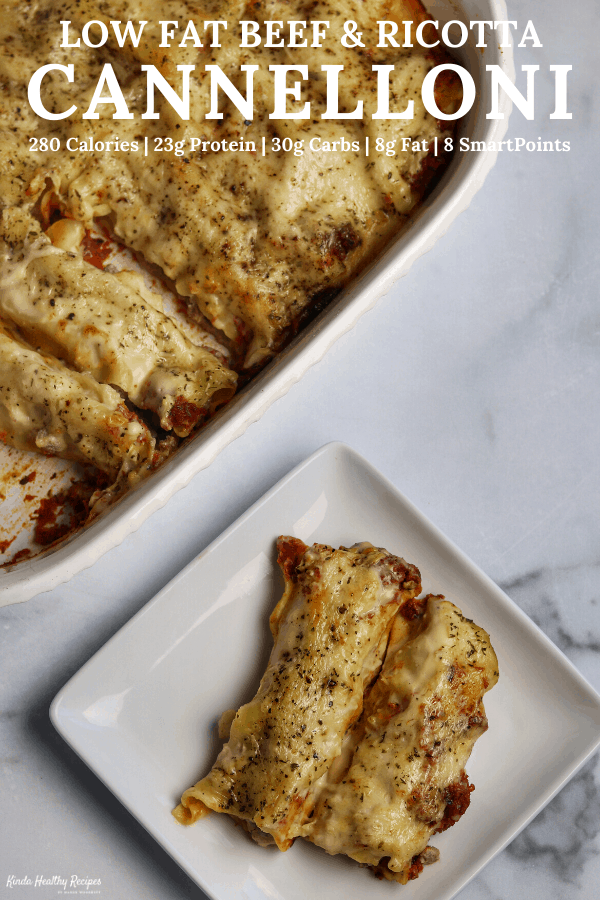 Beef and ricotta stuffed lasagna rolls smothered in a blend of marina, alfredo sauce, and parmesan cheese. Each extra cheesy, beefy serving has 23 grams of filling protein with just 280 calories and 8 grams of fat!