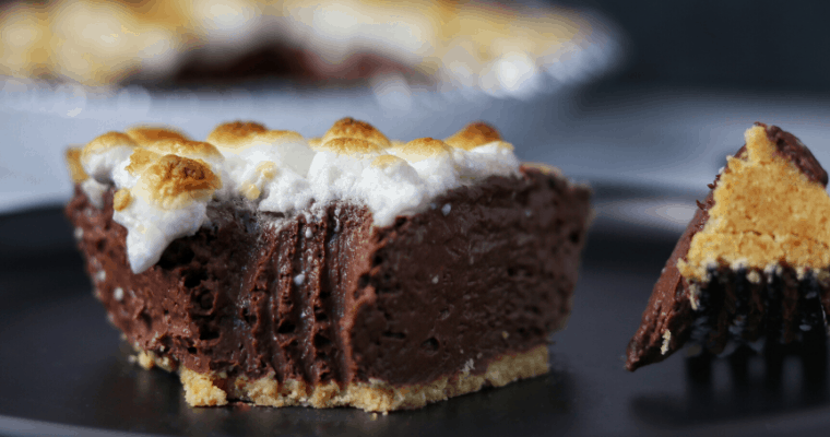 Easy S'mores Protein Pie