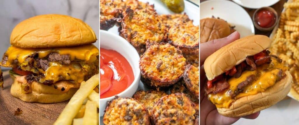 In-N-Out burger, cheeseburger bites, Shake Shack burger