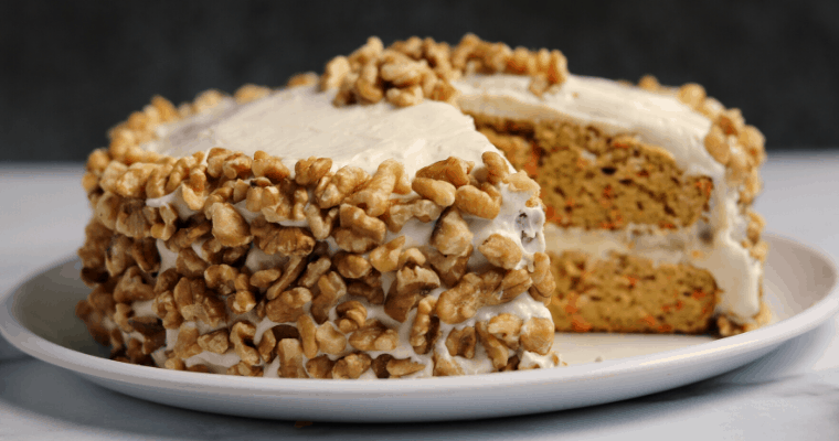 Protein Carrot Cake with Sugar Free Cream Cheese Frosting
