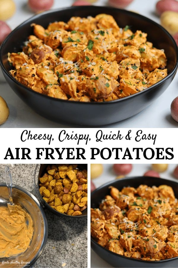 Elevate your next meal with this amazing side dish. Even without the low fat cheese sauce, these air fryer potatoes are perfect!