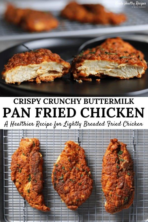 Crispy Buttermilk Pan Fried Chicken Breast Kinda Healthy Recipes