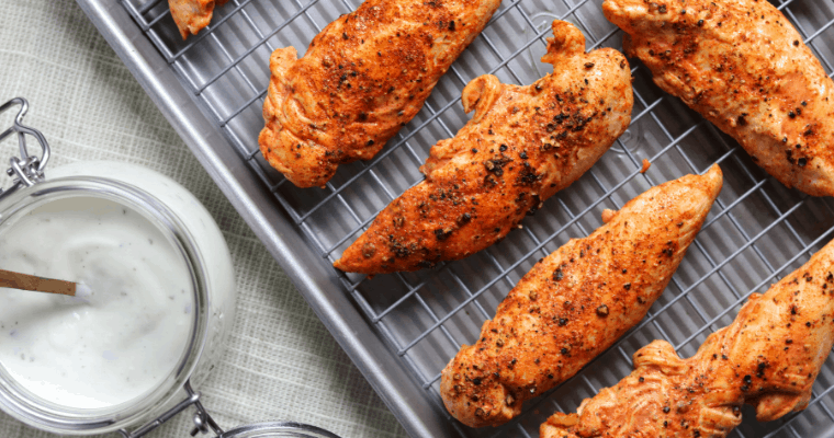 Spicy Buttermilk Baked Chicken Tenderloins
