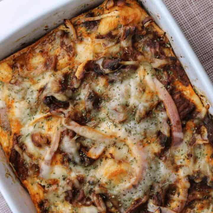 Leftover Pulled Pork Breakfast Casserole