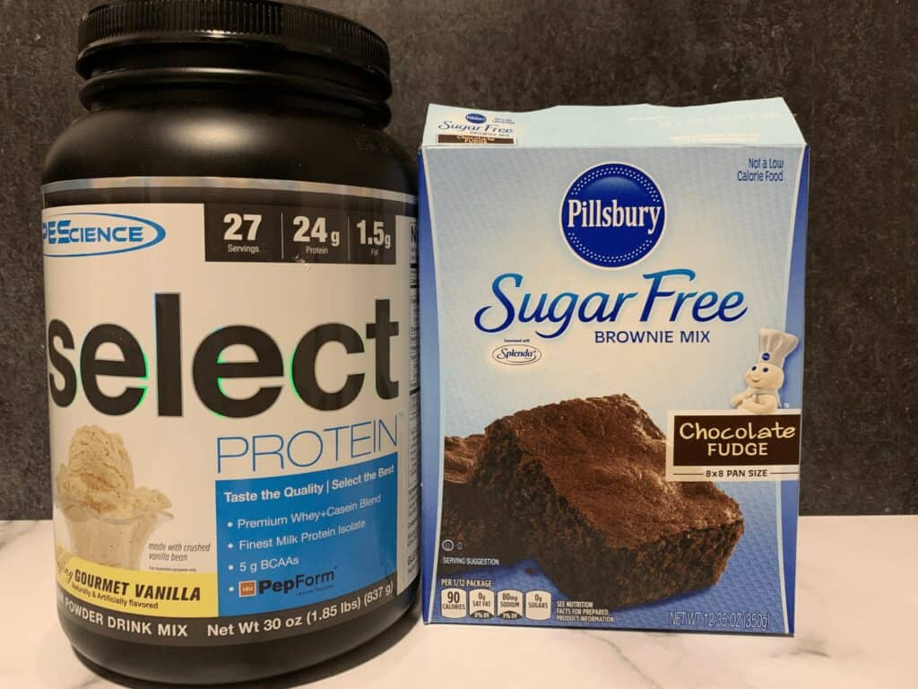 pescience select and pillsbury sugar free brownie mix