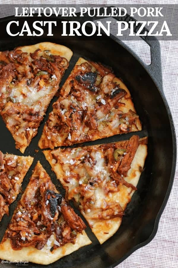 A simple recipe for pulled pork pizza using a thin and crispy Greek yogurt pizza crust. You can use any leftover pulled pork, but the recipe includes a crispy pressure pulled pork that's a must try!