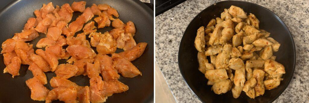 cooking the chili garlic chicken breast