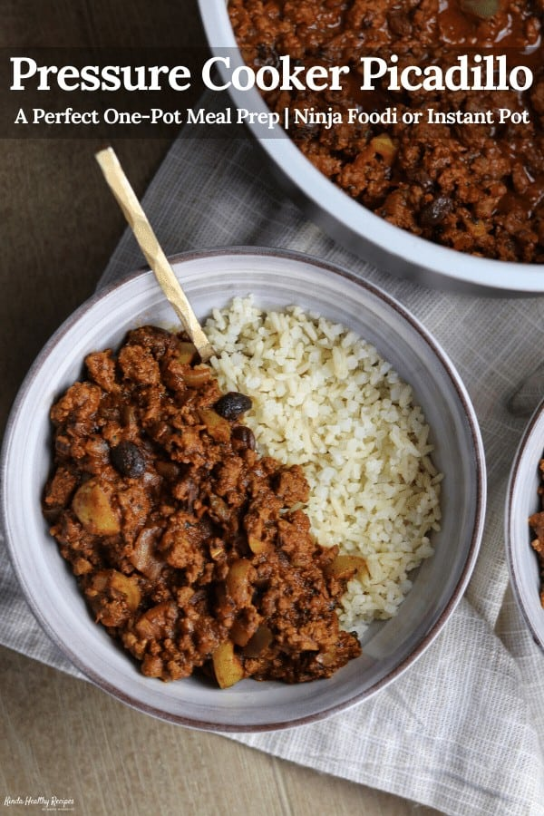 A simple, one-pot recipe for a huge batch of picadillo. Perfect for meal prep, this protein packed beef is perfect for rice bowls, tacos and quesadillas, or empanadas and pastries!