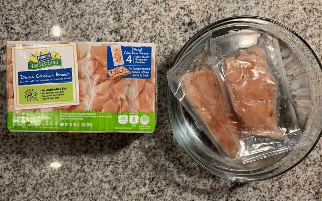 thawing perdue harvestland diced chicken breast