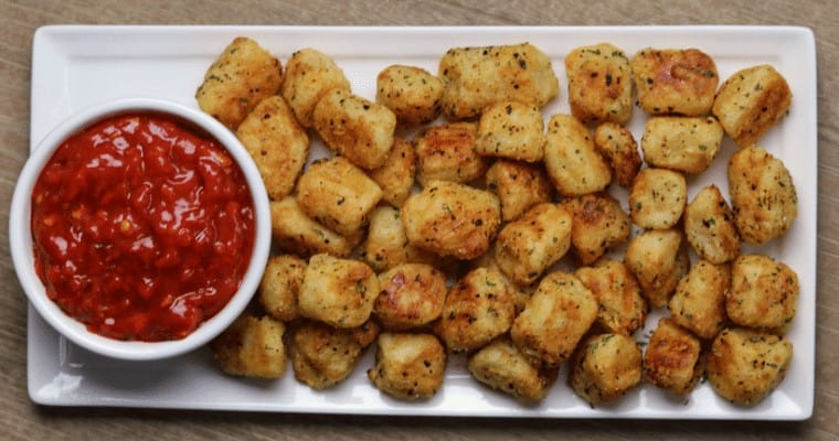 Air Fried Garlic Parmesan Cauliflower Gnocchi