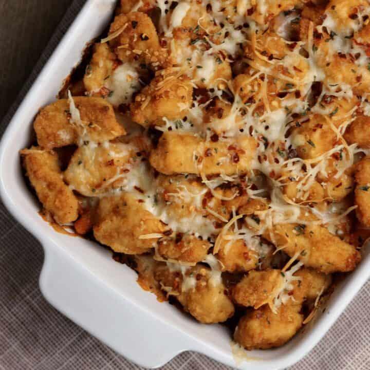 Chicken Parmesan Pasta Bake