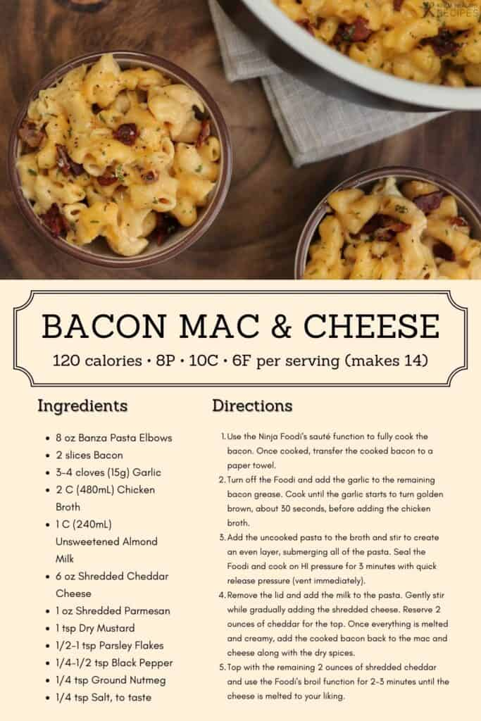 bacon mac and cheese recipe infographic