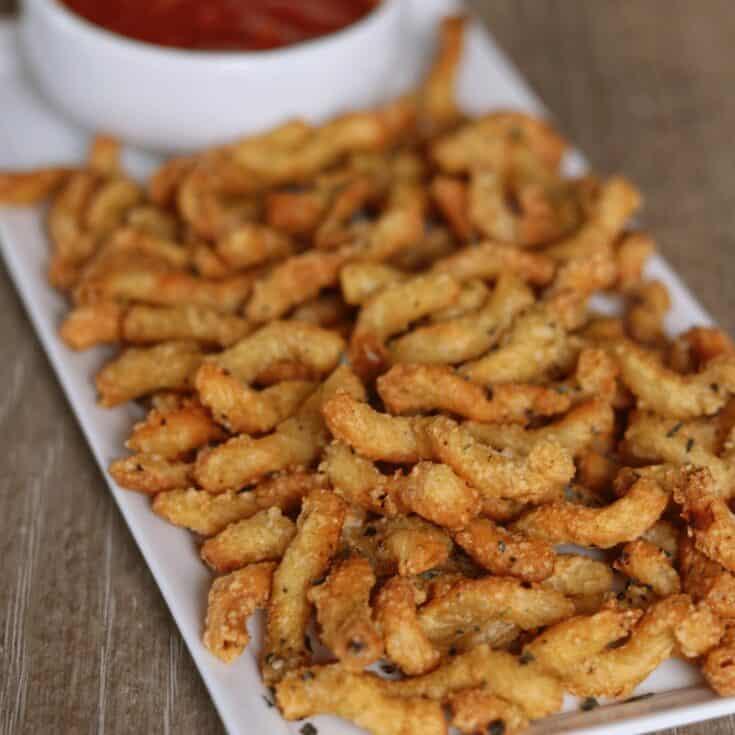 Garlic Parmesan Air Fryer Pasta Fries