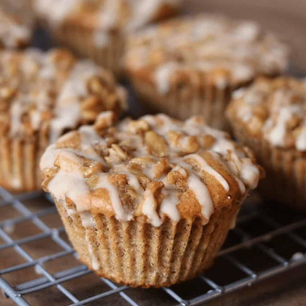 120 Calorie Gluten Free Coffee Cake Protein Muffins