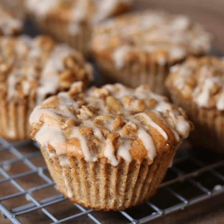 Gluten Free Coffee Cake Protein Muffins