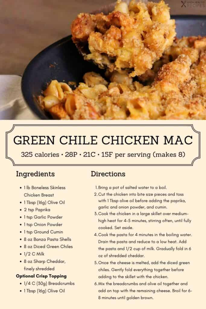 green chile mac and cheese recipe infographic
