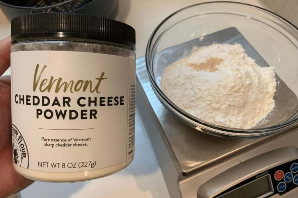King Arthur Flour cheddar cheese powder for air fryer cheese bread