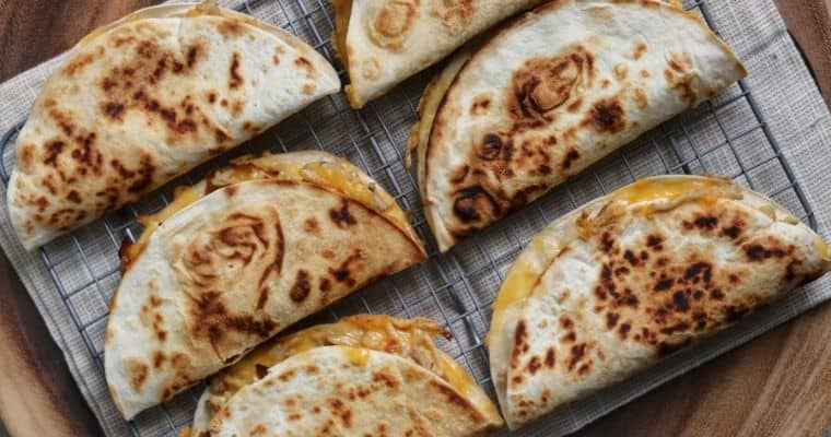 Bacon Ranch Ground Chicken Quesadillas