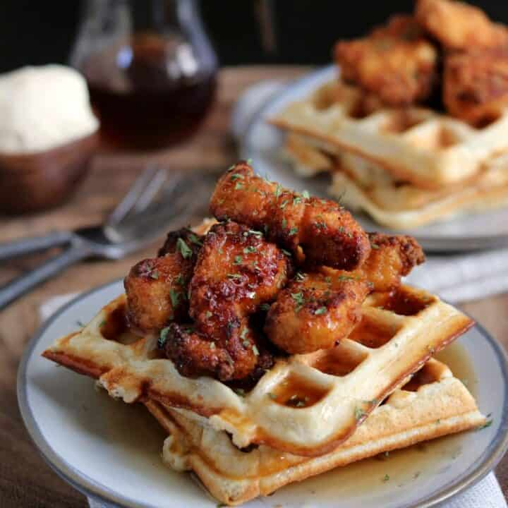 Chicken and Protein Waffles
