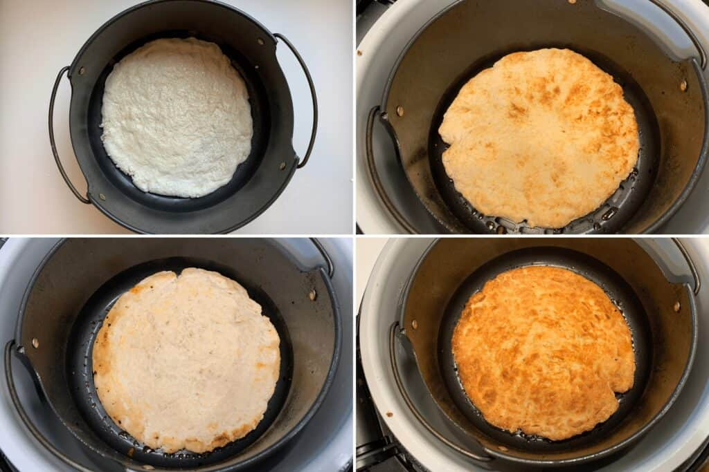 how to air fry the pizza dough