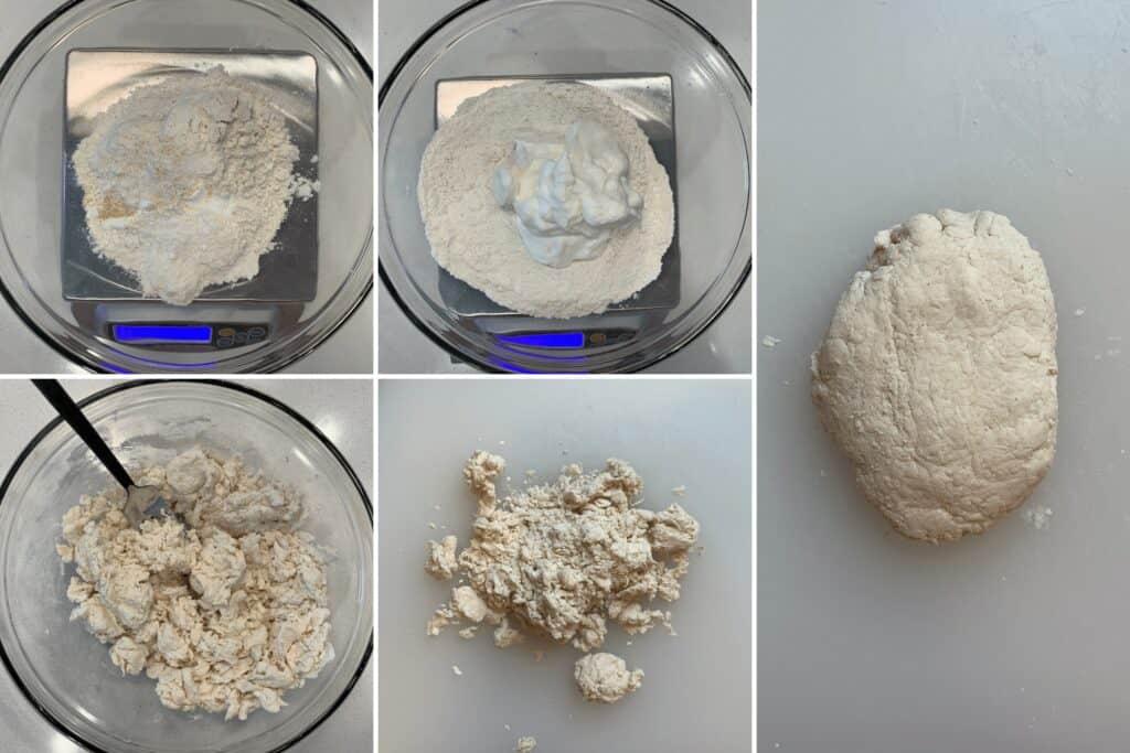 how to make Greek yogurt pizza dough with all purpose flour