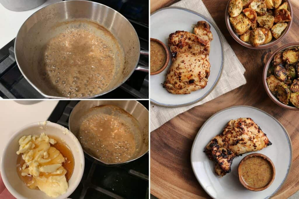 how to make a pan sauce with leftover marinade