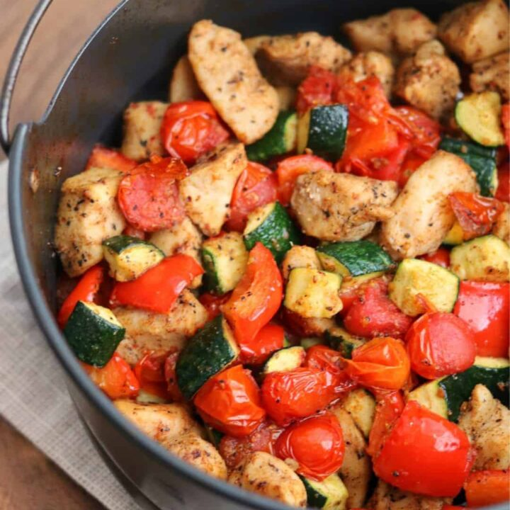 Air Fryer Cajun Chicken and Vegetables