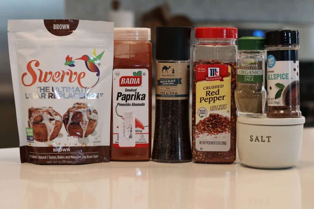 ingredients for homemade breakfast sausage seasoning