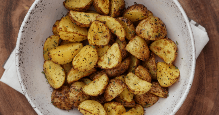 Easy Air Fryer Greek Potatoes