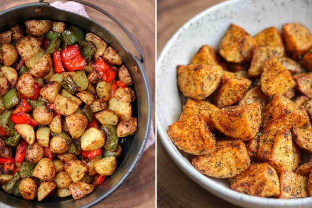 air fryer breakfast potatoes and Mexican potatoes