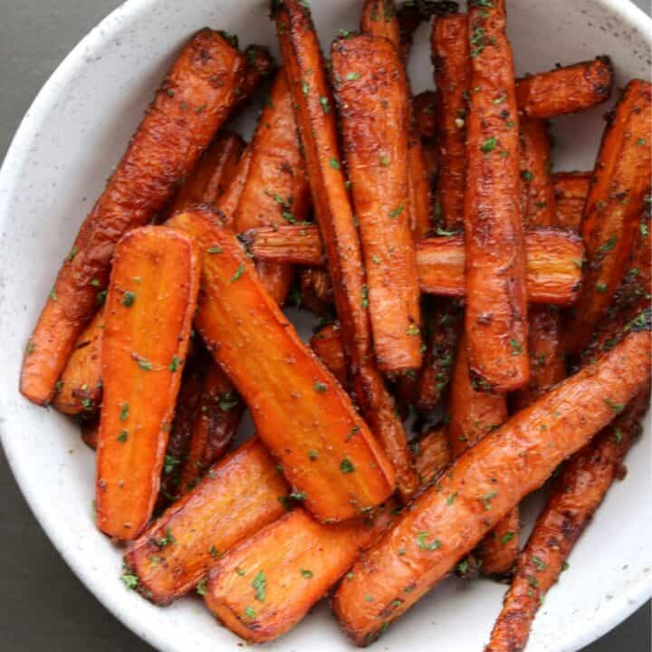 Balsamic Roasted Air Fryer Carrots