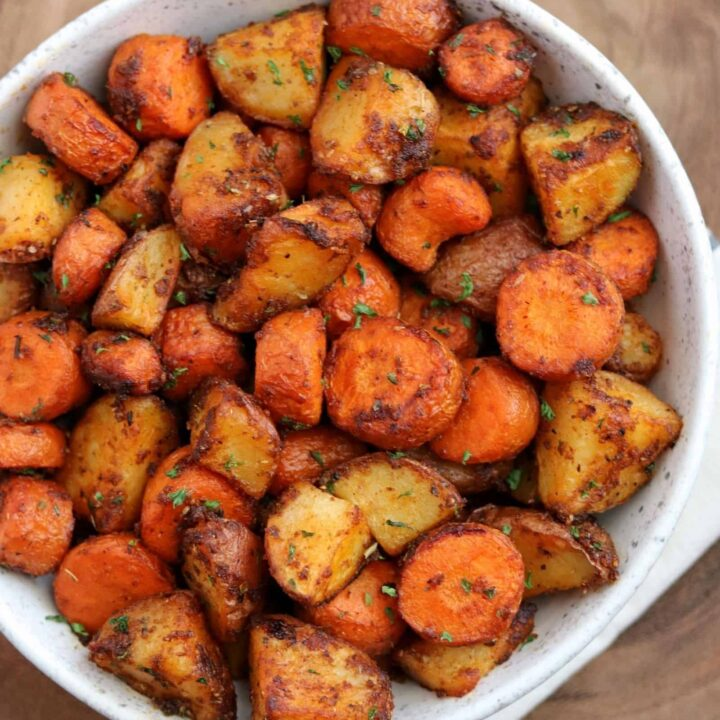 Air Fryer Roasted Carrots and Potatoes