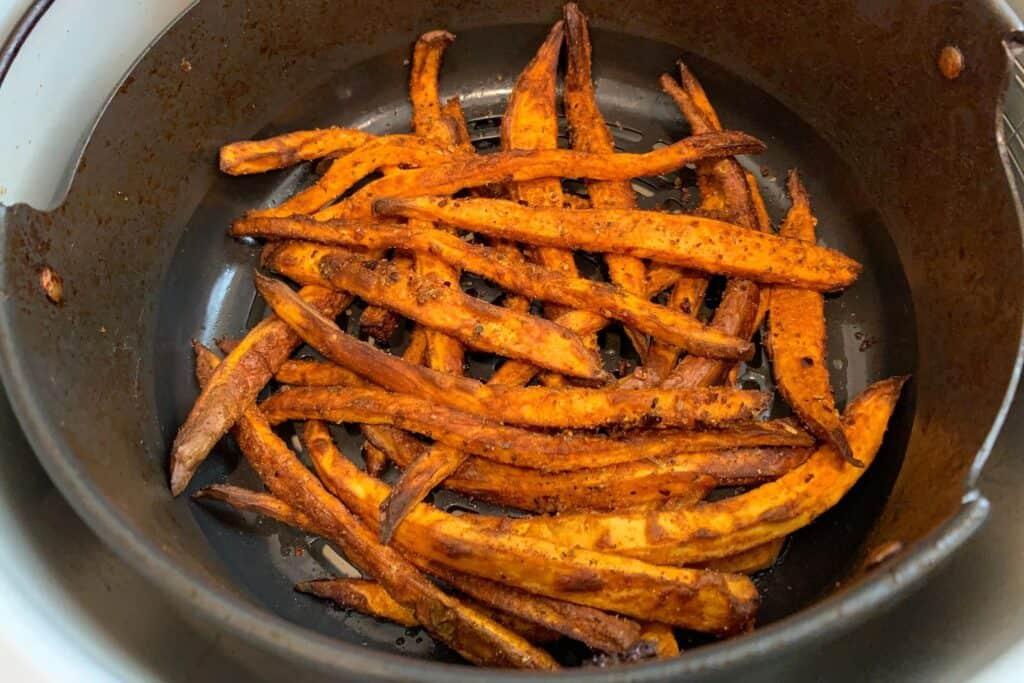 finished cajun ninja foodi sweet potato fries