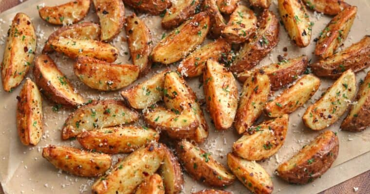 Garlic Parmesan Air Fryer Red Potatoes
