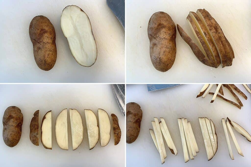 how to cut potatoes for air fryer fries