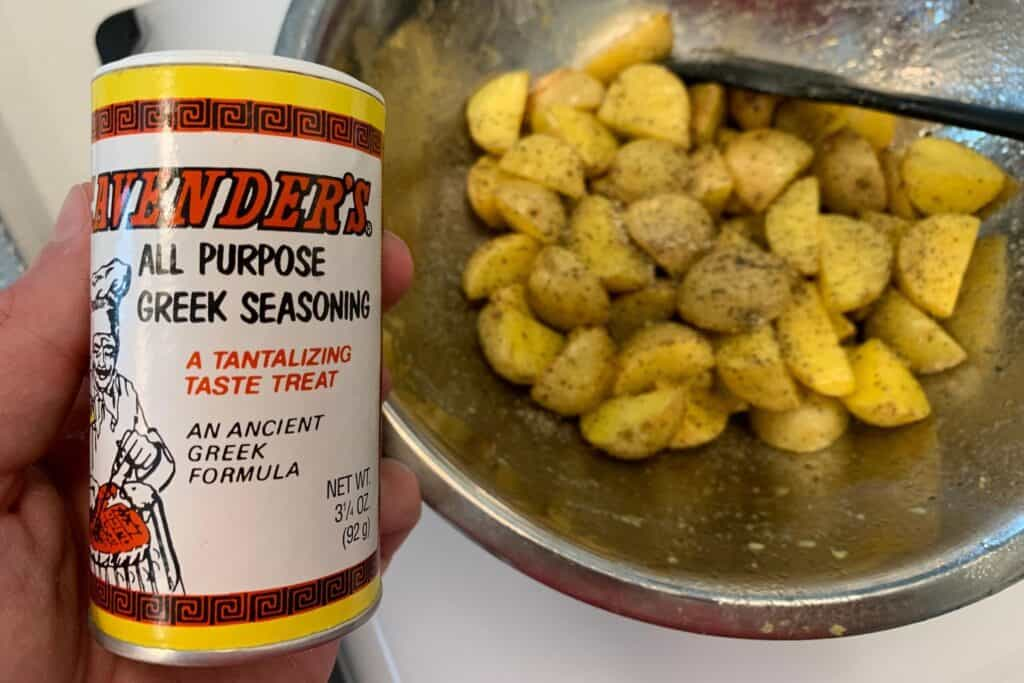 potatoes seasoned with Cavender's Greek seasoning