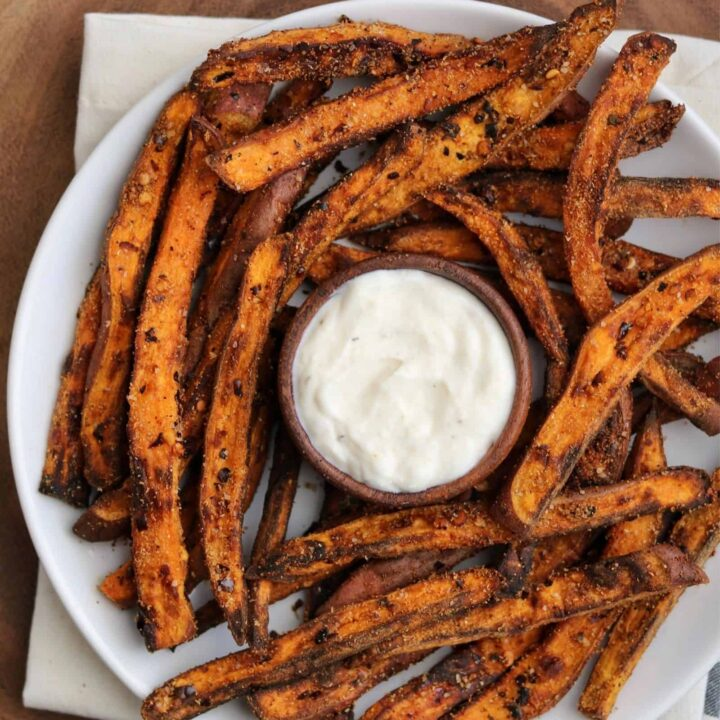 Spicy Air Fryer Sweet Potato Fries