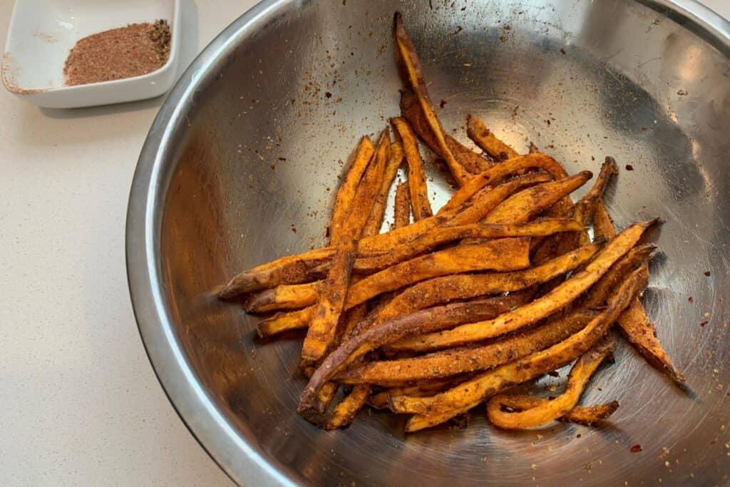 sweet potato fries tossed in cajun seasoning