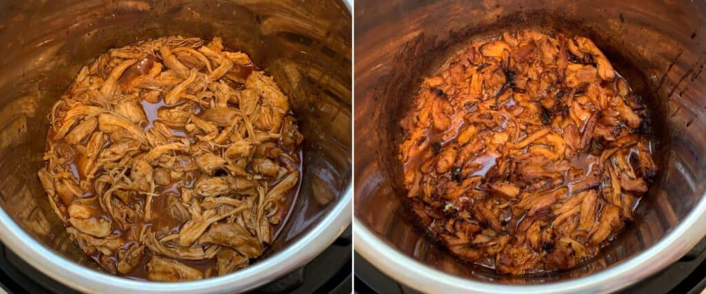 broiling the bbq chicken using the Instant Pot duo crisp