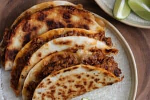 3 grilled tacos with chipotle instant pot taco meat and cheese