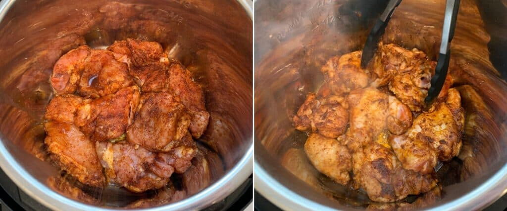 sautéing bbq chicken thighs in the Instant Pot