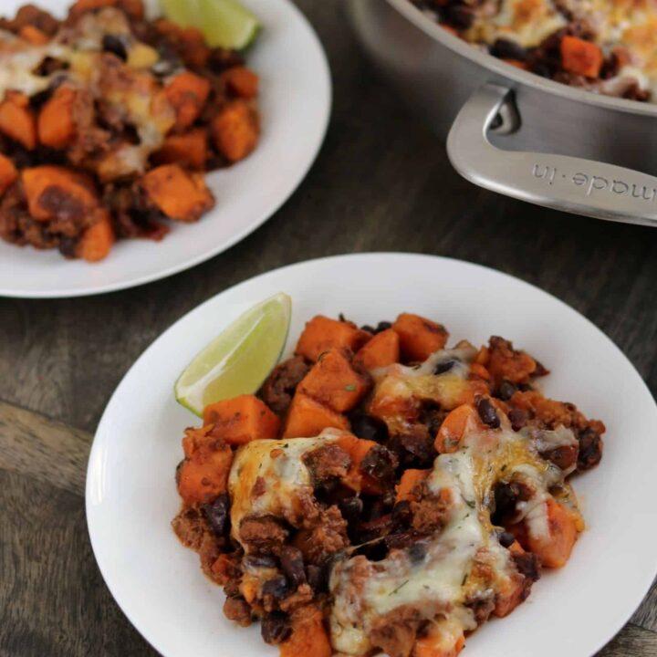 Chipotle Ground Turkey Sweet Potato Skillet