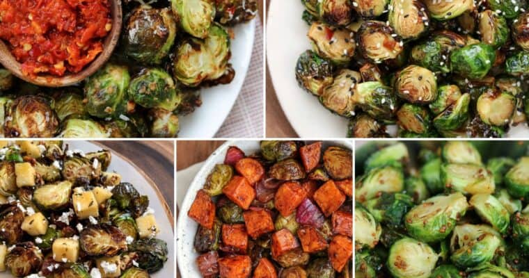 Air Fryer Brussels Sprouts 5 Ways