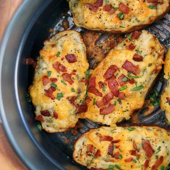 Air Fryer Twice Baked Potatoes Kinda Healthy Recipes