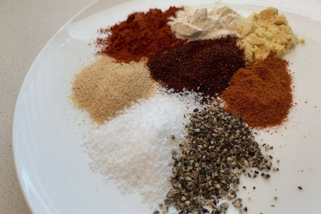buffalo seasoning ingredients on a plate