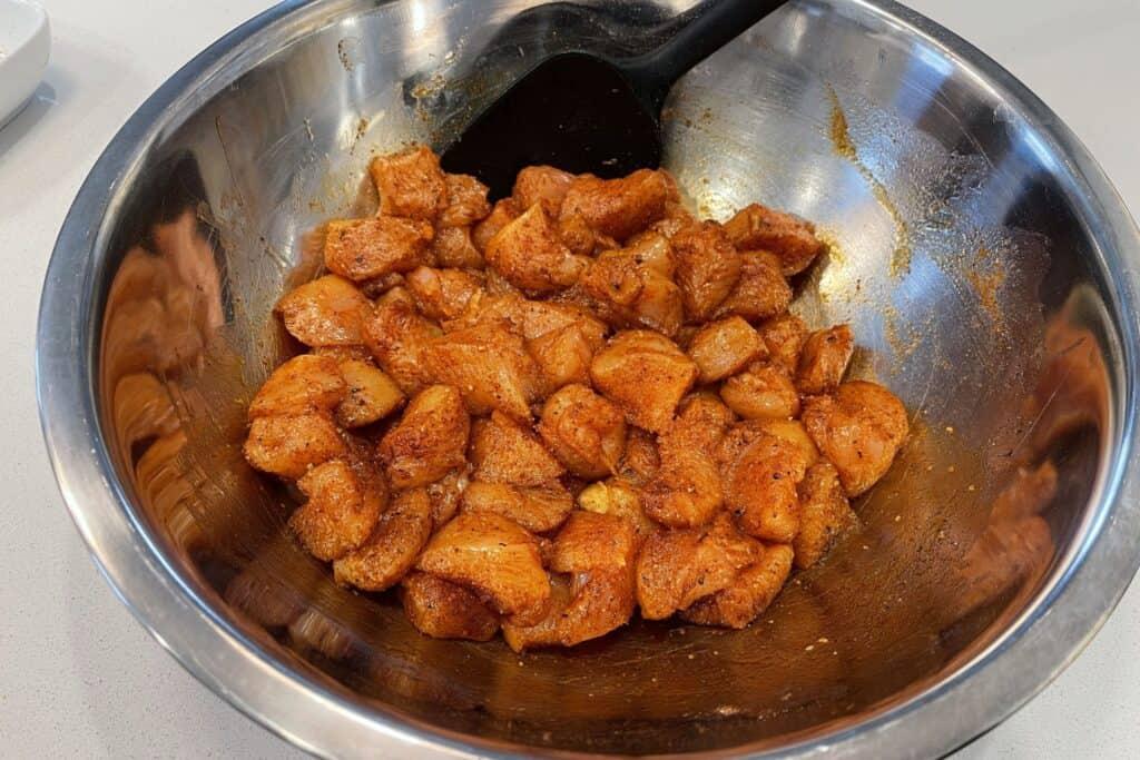 buffalo seasoned chicken breast pieces